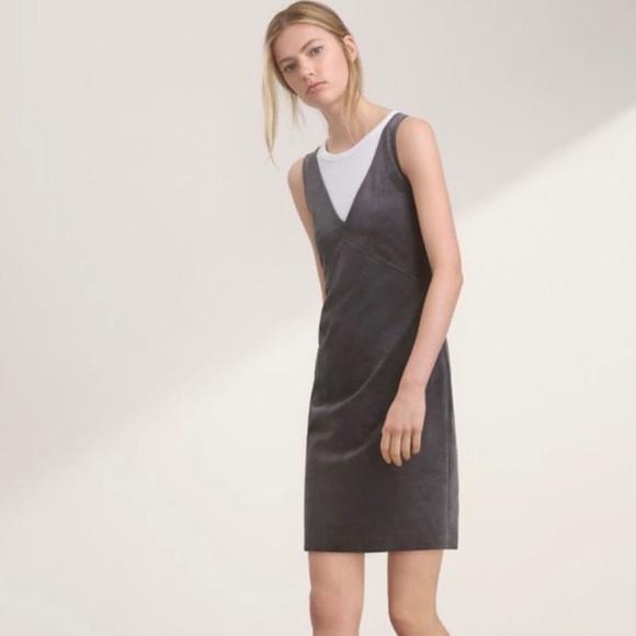 Aritzia Wilfred Jonas Vegan Suede Sleeveless Dress